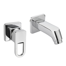 Chrome Hot/Cold Two Hole Mixer Sink Water Faucet Single Handle Water Mixer Tap Bathroom Fixture Basin Faucets