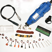 220V 130W Electric Rotary Tool 5 Speed Mini Drill with Flexible Shaft 140pcs Accessories Power Tools and glasses