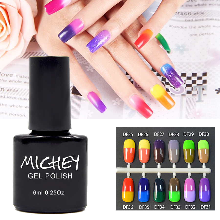 2017 New Arrival Super Gel Color MICHEY Gel de Color Temperature Change Nail Gel Thermal 1PCS Hard Gel Artist Makeup Women(China (Mainland))