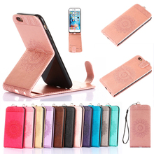 Biencaso Stand Vertical Folio Flip PU Leather Phone Fundas Case For Apple iPhone 4 4S 5 5S SE 6 6S 7 Plus Card Holder Cover B95