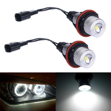 2Pcs 3w led angel eyes For bmw e39 6000K White LED Light Lamp Bulb For BMW E39 E53 E60 E61 E63 E64 E65 E66 X5(China)