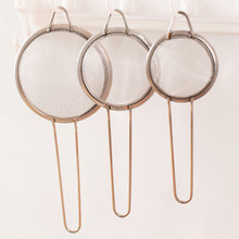 3pcs High quality Stainless Steel Screen Mesh Oil Strainer Flour Sieve Colander Baking Tools kitchen Accessories.(China)
