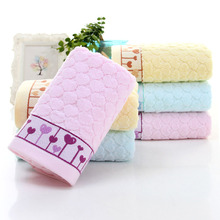 Quick-drying Pure Cotton Love Heart Pattern Hand Towel Beach Bath Absorbent Drying Wash Face Cloth