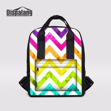 Dispalang Ladies Daypack Colorful Striped Nappy Baby Bags For Women Laptop Travel Backpack For Teenage Girl Rucksack Mochila