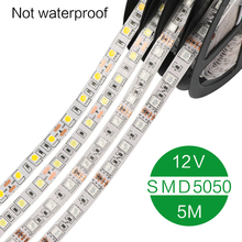 LED Strip 5050 DC12V 30LEDs/m 5m/lot Flexible LED Light RGB 5050 waterproof and no waterproof strip LED Strip(China)