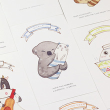 30pcs cute animal style postcard say love secret invitation Greeting Cards gift cards Christmas postcard & invitation