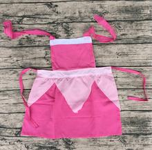 Bulk wholesale mommy and me kitchen apron set baby girl ruffle cotton ruffle cotton factory kids patterns princess
