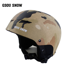 New Gsou snow double snowboard helmet, male and female warm adult skiing equipment(China)