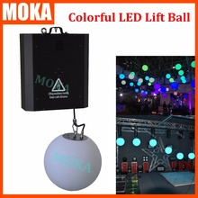RGB colorful LED tube lift system Dmx Control winch led lifting ball LED effect light indoor decoration disco bar ball