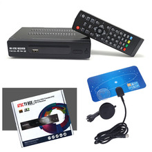 USA Mexico Canada ATSC Channel TV BOX Terrestrial Broadcast  Digital Signal Convertor RECEIVER + 3m 10ft Digital UHF VHF Antenna