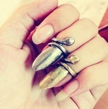 Min. order $9 (mix order) Fashion royal vintage nail pattern finger ring for power women(China)