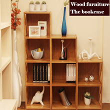 Multi function bookcase,shelf,wood cabinets, combination cabinets,Display rack,bookshelf,wood furniture,live room furniture(China)