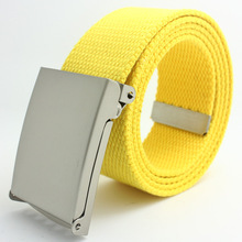 2017 Women Men Belt New Fashion Solid Candy Color Belts Female Ceinture Homme Retractable Cloth Belts Cinturones Mujer(China)