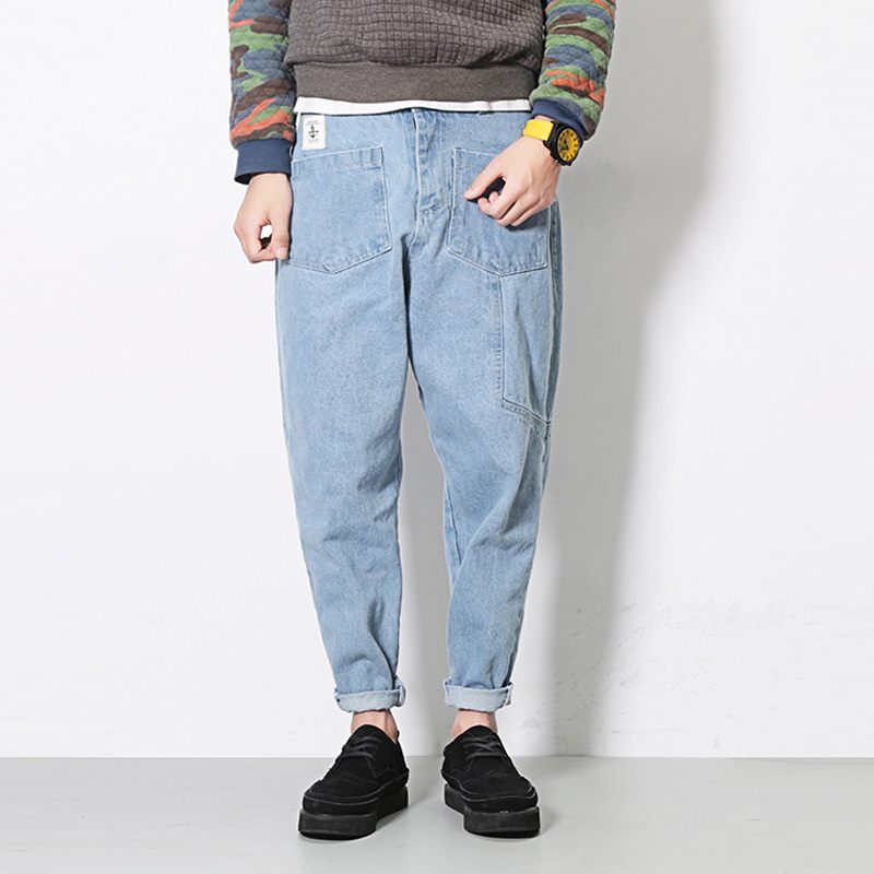 2017 New Men Jeans Male Street Fashion Hiphop Denim Harem Pant Conical Men Loose Jean TrousersОдежда и ак�е��уары<br><br><br>Aliexpress