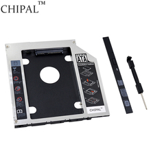 "CHIPAL 100pcs 2nd HDD Caddy 9.5mm SATA 3.0 for 2.5"" SSD Case Hard Disk Enclosure with LED Indicator for Notebook ODD DVD-ROM"