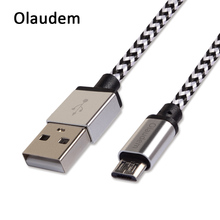 Olaudem Mobile Phone Cables Micro USB Cable 2m 3m Nylon Braided Micro USB Data Cable Android Samsung Micro USB Cord CB029
