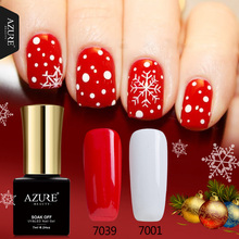 Azure Beauty Hot Christmas Series Gel UV Nail Gel Polish XMAS Gift For Nail Gel Glue DIY Snowflake Led Gel Nail Lacquer
