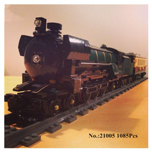 IN STOCK H&HXY Free shipping 21005 1085Pcs Emerald Night Train LEPIN Model Building Kit  Block Brick Compatible 10194