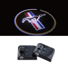2pcs Ghost Shadow Laser Projector logo Lights univeral for Ford Mustang V6 GT Free Shipping