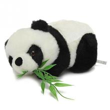 1 piece size 160 x 80 x 90 mm drop shipping Giant panda doll bamboo plush toy cloth doll memorial gifts child Christmas gift