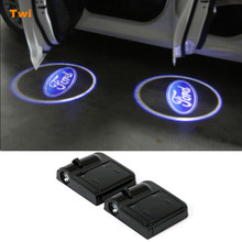 LED Door Logo Warning Light For Ford Focus 2 3 1 Fiesta Mondeo 4 3 Transit Fusion Kuga Ranger Mustang S-max Galaxy C-max Escape