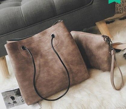 Fashion Women Bag Tote+Clutch Bags Women Messenger Bags Vintage Handbag Luxury Leather BIG Capcity Composite Bag<br><br>Aliexpress