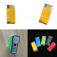1PCS Newest Funny Plastic Windproof Reuse Lighter Electric Shock Toy Multifunction Novelty Joke Gifts Prank Toys Cheap 7*3*1.3cm(China)