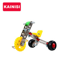 KAIMISI Metal Model Building Kits Puzzle Children Bicycle Enlighten Education Assemblage DIY Toys VS 3d metal model kit