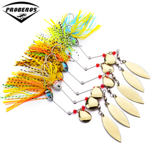 New Design Fishing Tackle 6 color Spoon Lures 6pc Spinner Lure Fishing Lure for Fishing bait(Hong Kong)