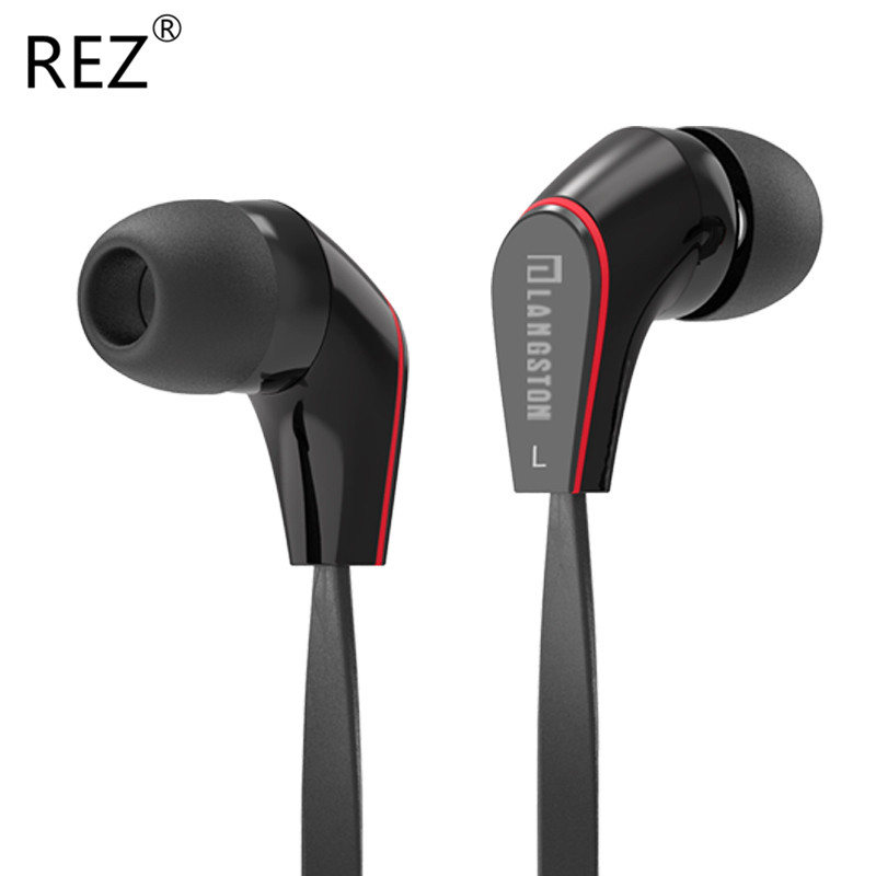 Original Langsdom JM12 Brand Earphone New Design Noise Canceling Black and White Headset with Microphone for Mobile Phone Player<br><br>Aliexpress