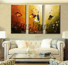 hand painted knife ballet paintings for living room or kids room decoration wall art modern abstract dancer painting on canvas(China)
