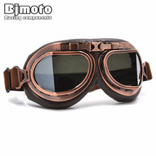 Fashion 2016 high quality Brand New cool Retro motorcycle goggles Harley Protection Eyewear lens goggle For helmet(China)