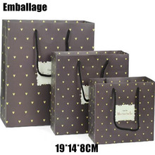 Sale Real Accept Packages Embalagem Paper Bags Printing Paperboard Packing 20set/lot 19*14*8cm Bag Drawstring Package