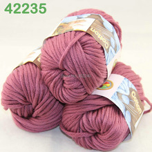 LOT of 3 Balls X 50g Special Thick Worsted Cotton Knitting Yarn Ruby Heather 2235(China)