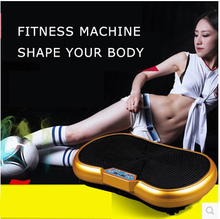 SO19 free shipping household fitness equipmemt, super body shaper vibration platform, crazy fit massage vibration machine(China)