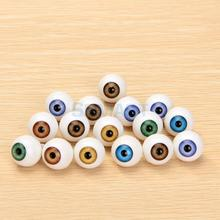 Free Shipping 8 Pcs Round Acrylic Doll Eyes Eyeballs 16mm(China)