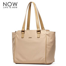 NOW Nylon Casual Tote For Women Fahion Single Shoulder Bags Zipper Solid Bags Casual Big Capacity Versatile Female Shoulder Bags