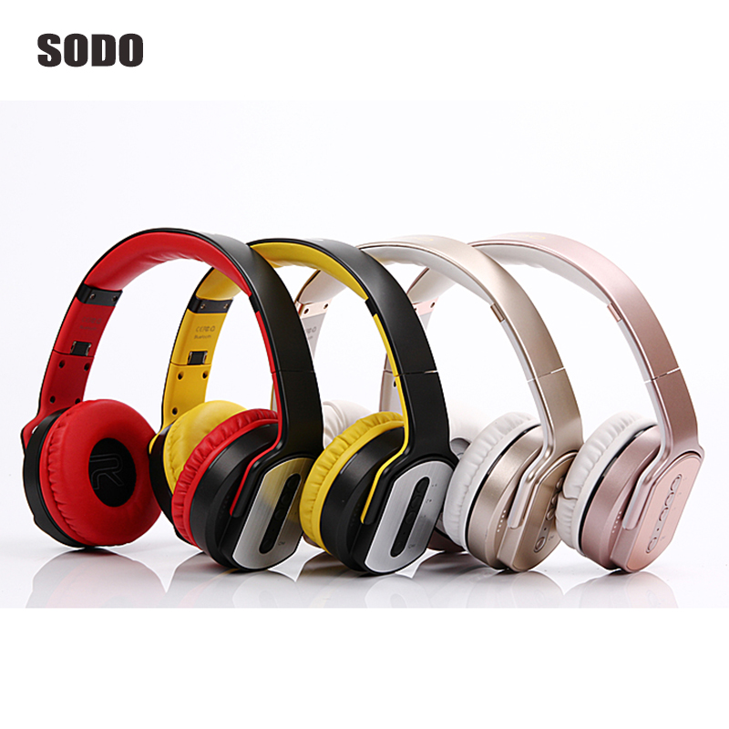 High Quality Bluetooth Headphones and Speaker Foldable Sport Wireless Headset Portable Earphone For iPhone Xiaomi ipad Computer<br>