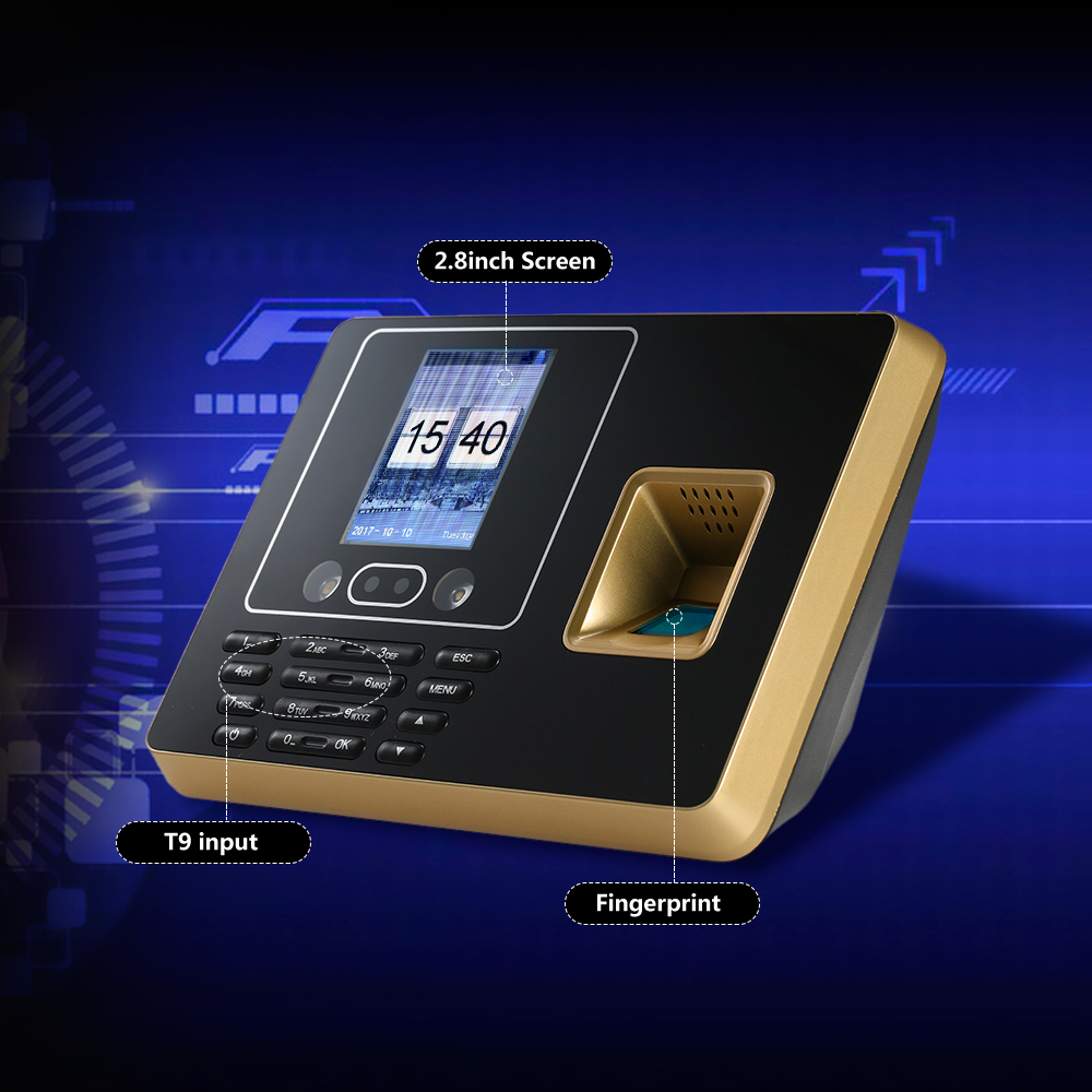 "Biometric Attendance System Fingerprint Attendance Machine TCP/IP 2.8"" Color Screen Employee Checking-in Recorder Time Recording"