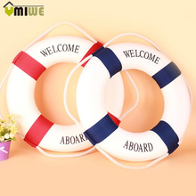 3 Size Mediteranean Sea Life Buoy Wall Hanging Lifebuoy Bar Home Props Nautical Life Ring Wedding Crafts Welcome Sign Home Decor