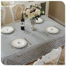 New Design European Jacquard Bubble Flower Tablecloths Decorative Elegant Design Table Cloth Linens Three Size(China)