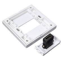 Best Promotion White HDMI 1 Port Wall Plate Socket Panel Cover Coupler Outlet Extender For HDTV DIY Easy to Install(China)