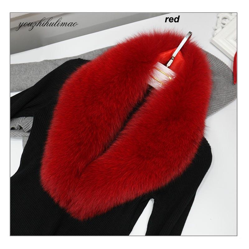 fox fur collar red