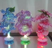2PCS LED Fiber Optical LED Rose Flower Light night lights Lampe Decorative Home from China for US,BR,RU From China Free Shipment