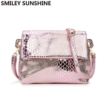 SMILEY SUNSHINE luxury serpentine print women shoulder bags ladies fashion messenger crossbody bags female small tote handbags(China)