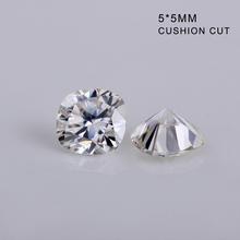 DEF color 5*5mm cushion cut created diamonds white moissanites gems loose stone for jewelry making