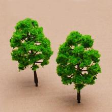 10PCS Model Plastic Trees Model Train Railroad Trunks Scenery Landscape Architectural Model Train Layout Garden Scene Wargame