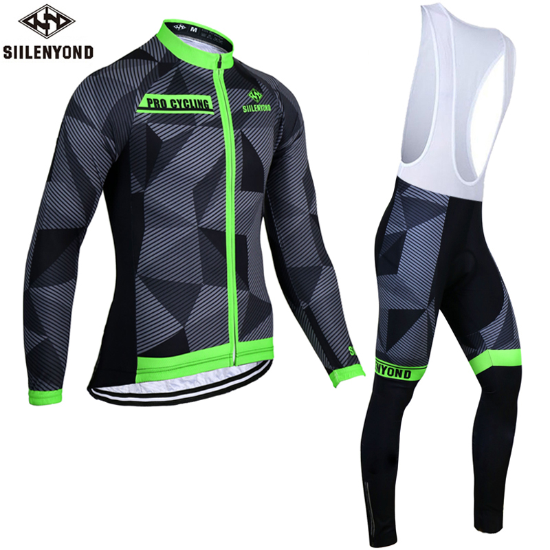 Siilenyond 2017 Thermal Fleece Cycling Jersey Winter Bike Wear Maillot Ropa Ciclismo Invierno Hombre MTB Bicycle Clothing Set<br><br>Aliexpress