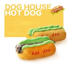 Hot Dog Bed Pet Cute Dog Beds For Small Dogs Puppy Warm Cat Sofa Cushion Soft Pet Sleeping Bag Pet Mat Funny Hot Dog Cushion