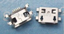 100pcs  charging socket Micro usb jack for  Alcatel One Touch Idol Dual OT-6030D A E OT6030